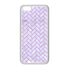 Brick2 White Marble & Purple Colored Pencil (r) Apple Iphone 5c Seamless Case (white) by trendistuff