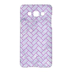 Brick2 White Marble & Purple Colored Pencil (r) Samsung Galaxy A5 Hardshell Case  by trendistuff