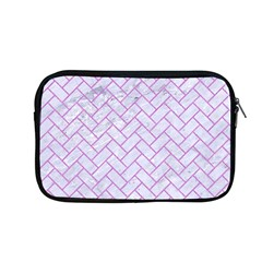 Brick2 White Marble & Purple Colored Pencil (r) Apple Macbook Pro 13  Zipper Case by trendistuff