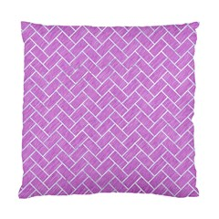 Brick2 White Marble & Purple Colored Pencil Standard Cushion Case (two Sides) by trendistuff