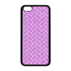 Brick2 White Marble & Purple Colored Pencil Apple Iphone 5c Seamless Case (black) by trendistuff