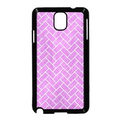 Brick2 White Marble & Purple Colored Pencil Samsung Galaxy Note 3 Neo Hardshell Case (black) by trendistuff