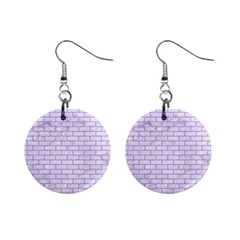 Brick1 White Marble & Purple Colored Pencil (r) Mini Button Earrings by trendistuff