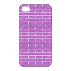 Brick1 White Marble & Purple Colored Pencil Apple Iphone 4/4s Hardshell Case by trendistuff