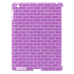 Brick1 White Marble & Purple Colored Pencil Apple Ipad 3/4 Hardshell Case (compatible With Smart Cover) by trendistuff