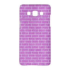 Brick1 White Marble & Purple Colored Pencil Samsung Galaxy A5 Hardshell Case  by trendistuff