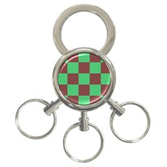 Background Checkers Squares Tile 3 Ring Key Chains by Sapixe