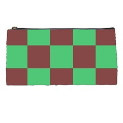 Background Checkers Squares Tile Pencil Cases