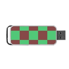 Background Checkers Squares Tile Portable Usb Flash (one Side) by Sapixe
