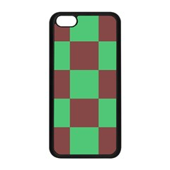 Background Checkers Squares Tile Apple Iphone 5c Seamless Case (black)