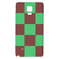 Background Checkers Squares Tile Galaxy Note 4 Back Case by Sapixe