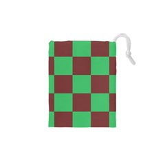 Background Checkers Squares Tile Drawstring Pouches (xs)  by Sapixe