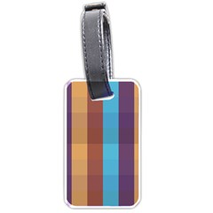 Background Desktop Squares Luggage Tags (one Side)  by Sapixe