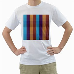 Background Desktop Squares Men s T Shirt (white) (two Sided)