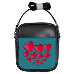 Background Desktop Hearts Heart Girls Sling Bags by Sapixe