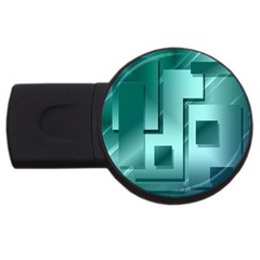 Green Figures Rectangles Squares Mirror Usb Flash Drive Round (2 Gb) by Sapixe