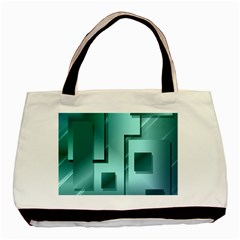 Green Figures Rectangles Squares Mirror Basic Tote Bag (two Sides) by Sapixe