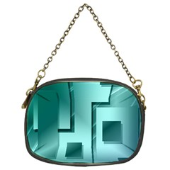 Green Figures Rectangles Squares Mirror Chain Purses (two Sides)  by Sapixe