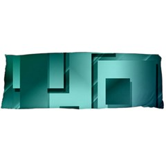 Green Figures Rectangles Squares Mirror Body Pillow Case (dakimakura) by Sapixe