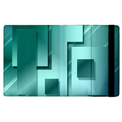 Green Figures Rectangles Squares Mirror Apple Ipad 3/4 Flip Case by Sapixe
