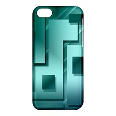 Green Figures Rectangles Squares Mirror Apple Iphone 5c Hardshell Case by Sapixe