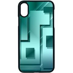 Green Figures Rectangles Squares Mirror Apple Iphone X Seamless Case (black)