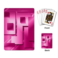 Pink Figures Rectangles Squares Mirror Playing Card by Sapixe