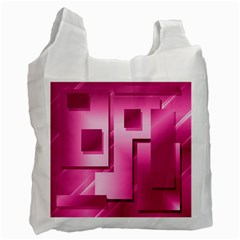 Pink Figures Rectangles Squares Mirror Recycle Bag (two Side)  by Sapixe