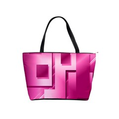 Pink Figures Rectangles Squares Mirror Shoulder Handbags by Sapixe