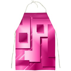 Pink Figures Rectangles Squares Mirror Full Print Aprons by Sapixe