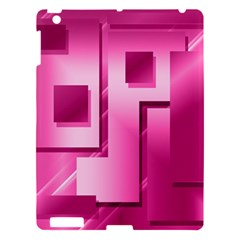 Pink Figures Rectangles Squares Mirror Apple Ipad 3/4 Hardshell Case by Sapixe
