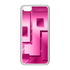 Pink Figures Rectangles Squares Mirror Apple Iphone 5c Seamless Case (white) by Sapixe