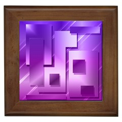 Purple Figures Rectangles Geometry Squares Framed Tiles