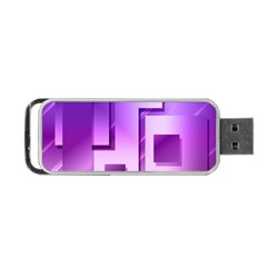 Purple Figures Rectangles Geometry Squares Portable Usb Flash (one Side)