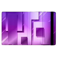 Purple Figures Rectangles Geometry Squares Apple Ipad 3/4 Flip Case by Sapixe