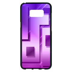 Purple Figures Rectangles Geometry Squares Samsung Galaxy S8 Plus Black Seamless Case