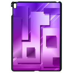 Purple Figures Rectangles Geometry Squares Apple Ipad Pro 9 7   Black Seamless Case