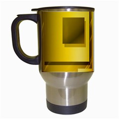 Yellow Gold Figures Rectangles Squares Mirror Travel Mugs (white) by Sapixe