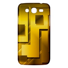 Yellow Gold Figures Rectangles Squares Mirror Samsung Galaxy Mega 5 8 I9152 Hardshell Case  by Sapixe