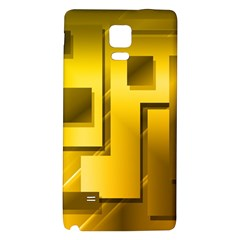 Yellow Gold Figures Rectangles Squares Mirror Galaxy Note 4 Back Case by Sapixe