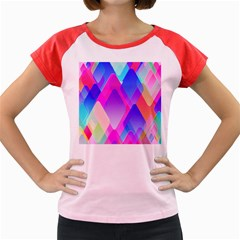 Squares Color Squares Background Women s Cap Sleeve T Shirt by Sapixe