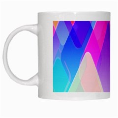 Squares Color Squares Background White Mugs