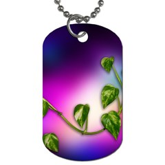 Leaves Green Leaves Background Dog Tag (one Side)