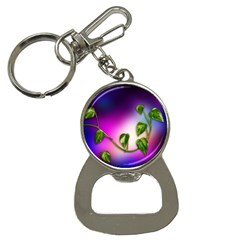 Leaves Green Leaves Background Bottle Opener Key Chains by Sapixe
