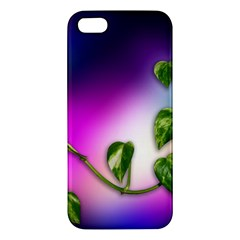 Leaves Green Leaves Background Apple Iphone 5 Premium Hardshell Case by Sapixe