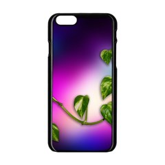 Leaves Green Leaves Background Apple Iphone 6/6s Black Enamel Case