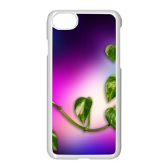 Leaves Green Leaves Background Apple Iphone 8 Seamless Case (white) by Sapixe