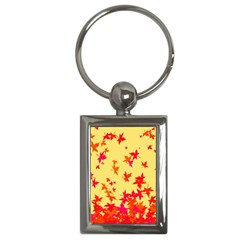 Leaves Autumn Maple Drop Listopad Key Chains (rectangle)