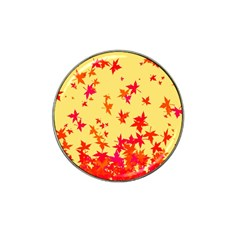 Leaves Autumn Maple Drop Listopad Hat Clip Ball Marker (4 Pack)