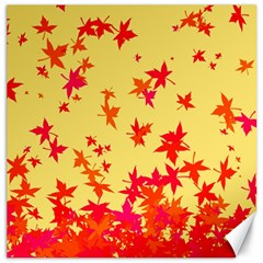 Leaves Autumn Maple Drop Listopad Canvas 20  X 20   by Sapixe